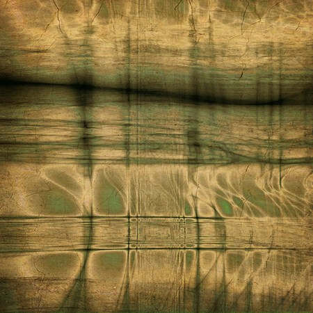 Dramatic: Grunge old texture used as abstract vintage style background. With different color patterns: yellow (beige); green; brown; gray; black