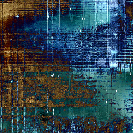 Old school elements on textured grunge background. With different color patterns: