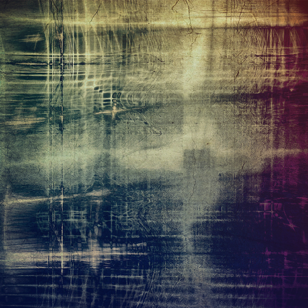 Grunge texture in ancient style, aged background with creative decor and different color patterns: Stock Photo