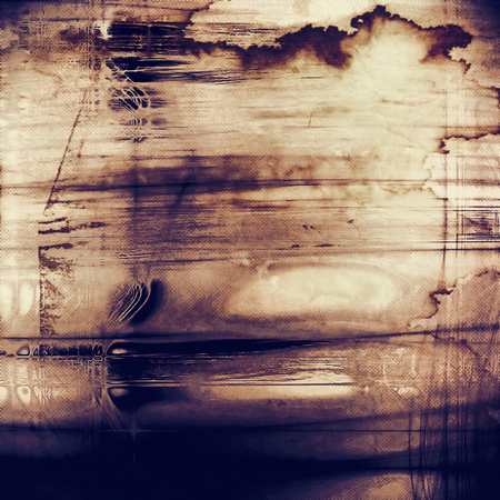 Background with dirty grunge texture, vintage style elements and different color patterns: