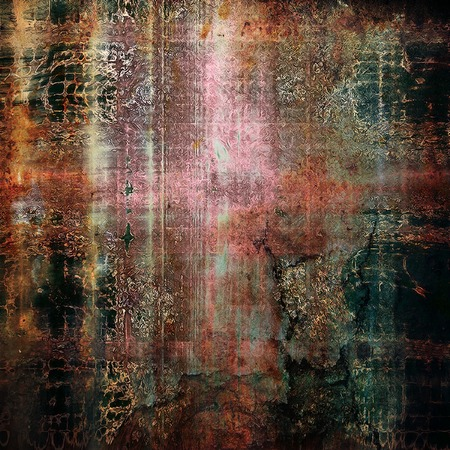 Vintage style shabby texture or background with classy grungy elements and different color patterns: