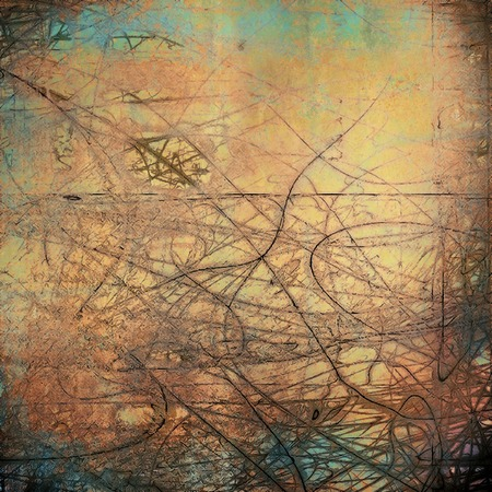 Old style distressed vintage background or texture. With different color patterns Stock Photo