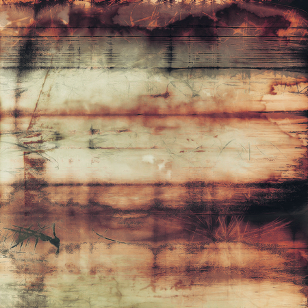 Cracks and stains on a vintage textured background. With different color patterns Stock Photo