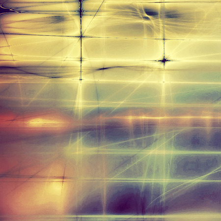 Abstract vintage background with grunge effects, ragged elements, and different color patterns