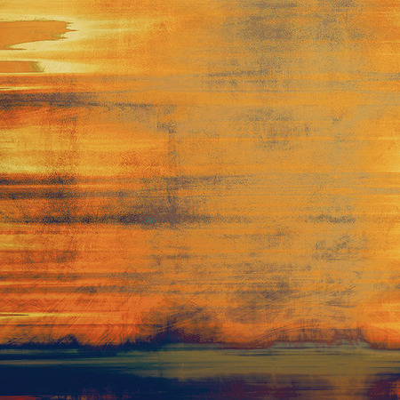 Abstract composition on textured, vintage background with grunge stains. With different color patterns
