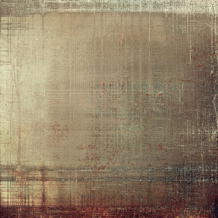 Retro style graphic composition on textured grunge background. With different color patterns