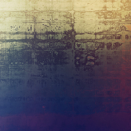 Vintage old-style texture, worn and rough grunge background with different color patterns