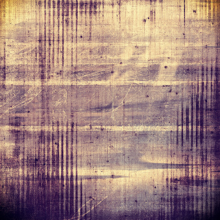 Old style decorative composition or designed vintage template with textured grunge elements and different color patterns