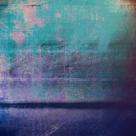 Grunge retro composition, textured vintage background. With different color patterns