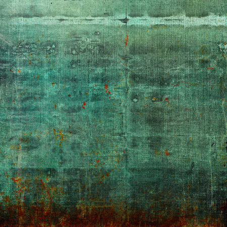 Old grunge background or aged shabby texture with different color patterns