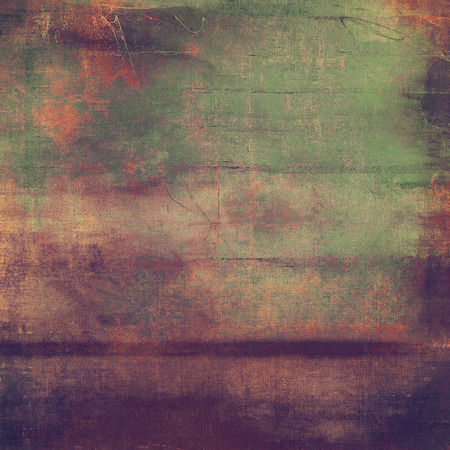 Vintage aged texture, old scratched background. With different color patterns 스톡 콘텐츠