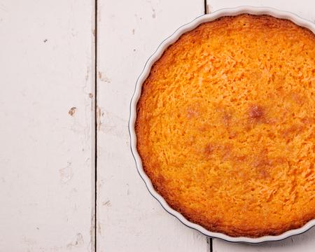 pumpkin pie: Homemade Pumpkin Pie and tea. Selective focus.