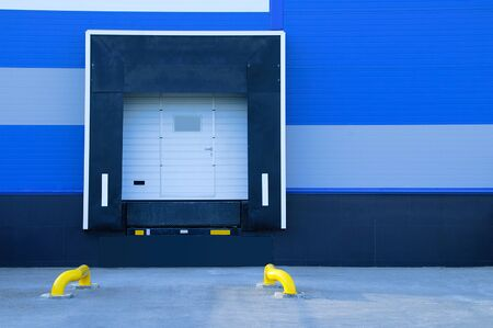 The loading and unloading area in the building of a large supermarket.