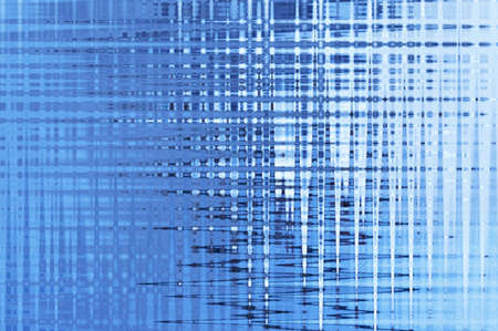 Blue white abstract mirrored background with a checkered and zigzag pattern.