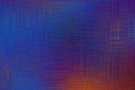 Blue orange abstract mirrored background with fabric texture.