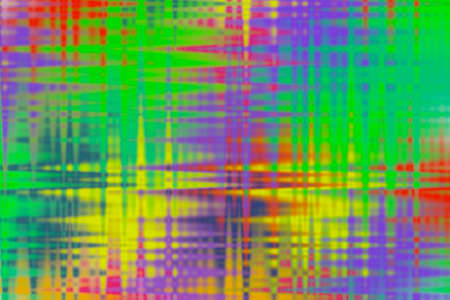 Multicolored acid abstract background with checkered and zigzag pattern. Фото со стока