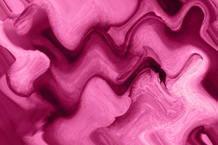 Abstract wavy pink bright background. Paint strokes. 스톡 콘텐츠