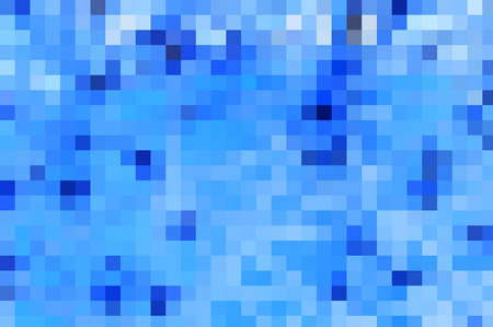 Square mosaic multicolored background in blue tones. Standard-Bild