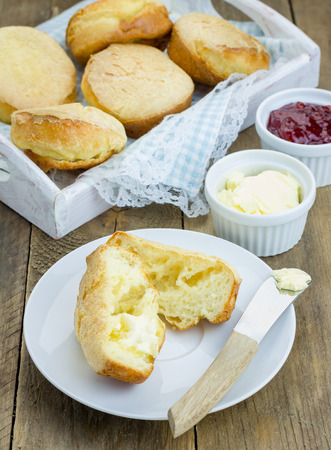 buttery: Homemade crunchy buttery popovers