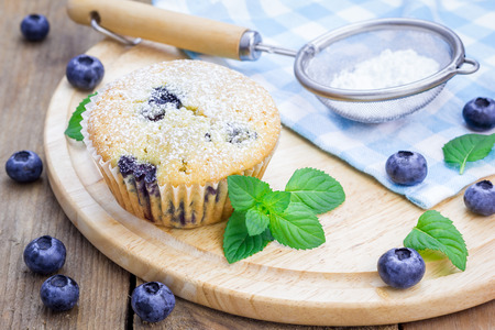 blueberry muffin: Homemade blueberry muffin