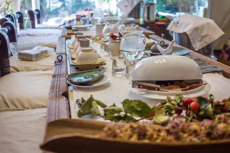 korean style house: South korean tea ceremony table Stock Photo