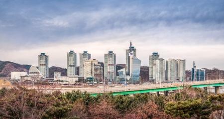 韓国大田市スカイライン ビュー 写真素材