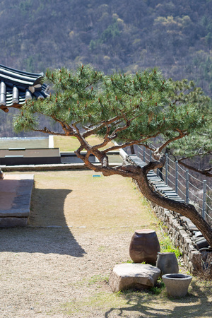 Landscape in traditional Korean village at Wanju County, South Korea Stok Fotoğraf