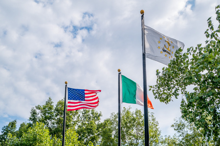 Flags of the United States of America, Ireland and Rhode Island