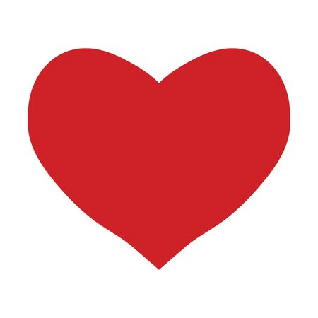 Red heart on a white background, valentines day, vector illustration