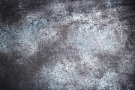 grey texture: gray fabric grunge texture background with simulated blurred ink. horizontal. wet asphalt Stock Photo