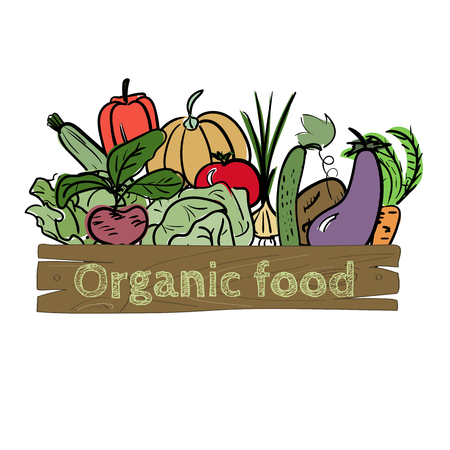 Hand drawn vegetable icon. Vector illustration