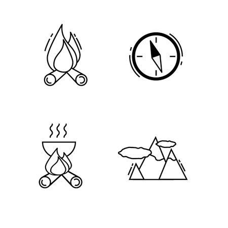 Traveling icons for Web and Mobile App. Stock Photo