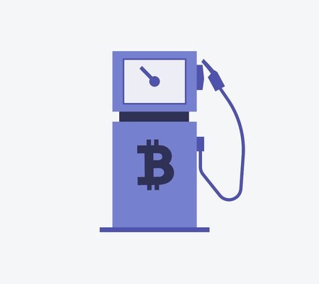 Bitcoin Gas Station Symbol Icon Royalty Free Cliparts Vectors And