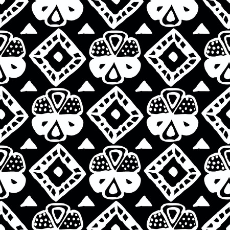 polynesian ethnicity: Seamless vector tribal texture. Hand painted background. Illustration