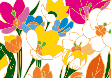 painted background: Abstract hand painted background. Vector illustration.
