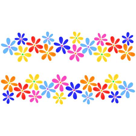 Tarjeta floral colorida con flores aisladas, dibujo acuarela. Diseño para invitación, boda o tarjetas de felicitación, impresión
