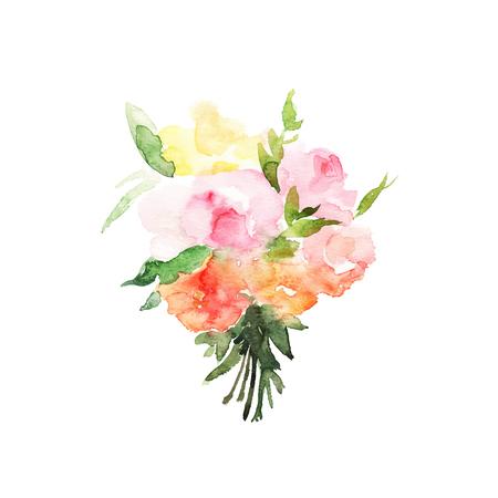 branch cut: Watercolor floral bouquet
