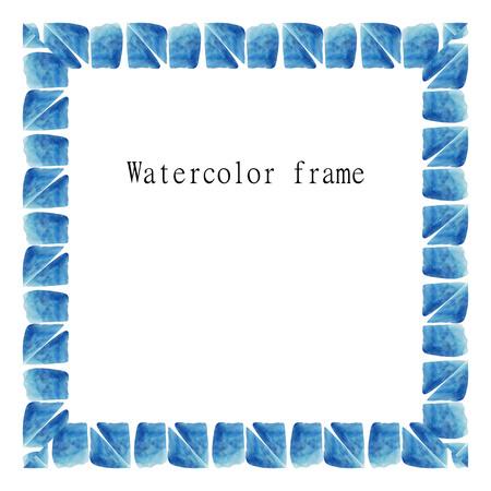 deckle: Illustration of watercolor frame. Vector.