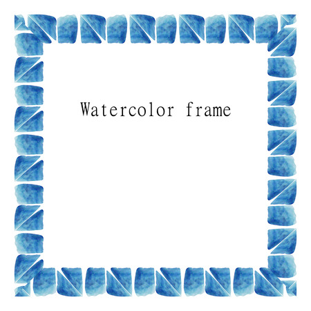 Illustration of watercolor frame. Vector.
