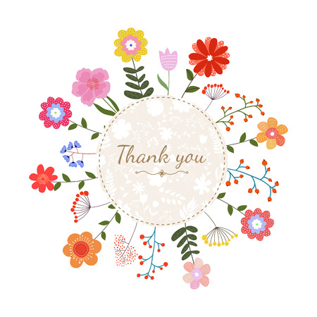 picture card: Floral vector card