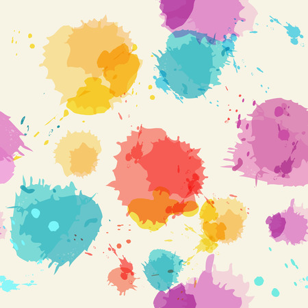 seamless bacground: Seamless bacground with imitation watercolor stains. Vector illustration.