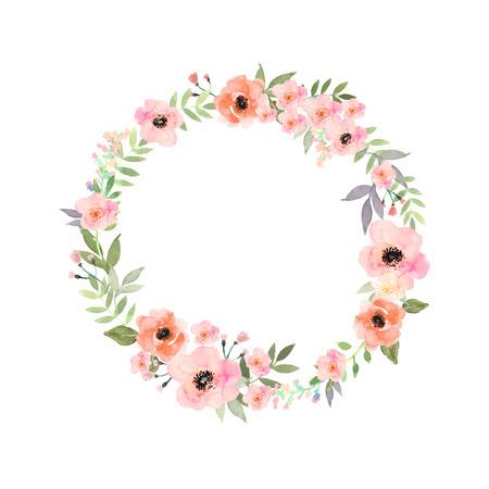 bloemen set. Elegante bloemencollectie met geïsoleerde blauw, roze bladeren en bloemen, hand getrokken aquarel. Ontwerp voor uitnodigingskaarten, huwelijks- of wenskaarten Vector Illustratie