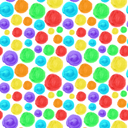 rainbow circle: Rainbow circle seamless background. Artistic watercolor texture. Hand drawn multicolor pattern for your design.