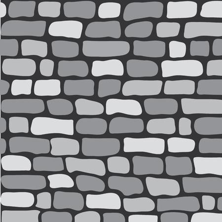 Graue Backsteinmauer des nahtlosen Musters, Vektorillustration Vektorgrafik