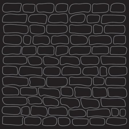 Graue Backsteinmauer des schwarzen Hintergrundes, Entwurfsdesign, Vektorillustration.