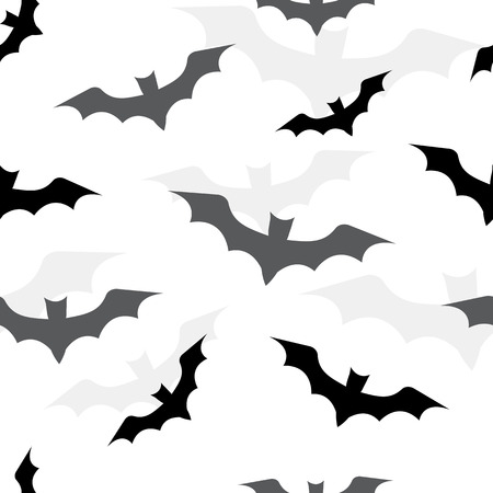 Seamless pattern with bats for Halloween. Vector illustration Иллюстрация