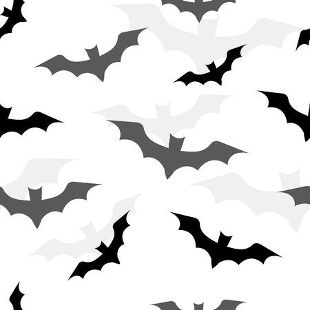 Seamless pattern with bats for Halloween. Vector illustration Illustration