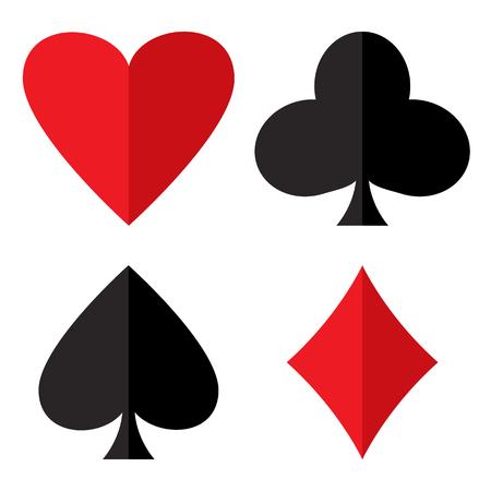 Casino gambling theme on white background.