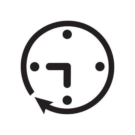 Black clock icon.
