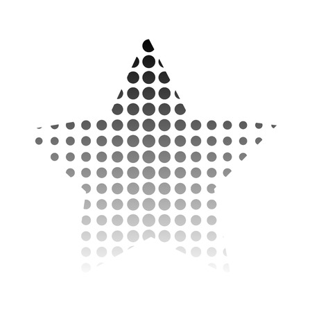 distort: Figure of a star with black dots Vector illustration